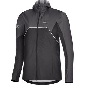 GORE WEAR R7 Partial Gore-Tex Infinium Hooded Jacket Women black/terra grey